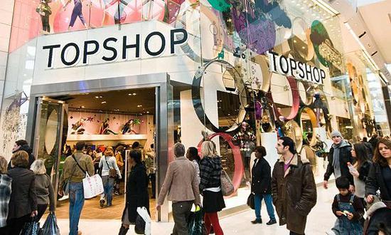Topshop英国门店 图片来源:Alamy Stock Photo