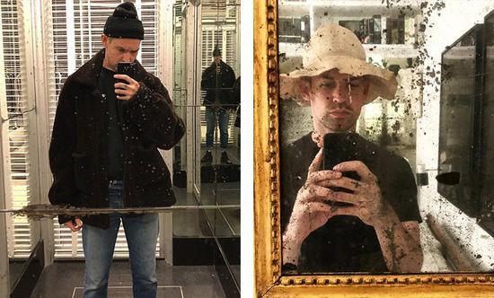 镜子虽然不干净,但为了这顶好帽子