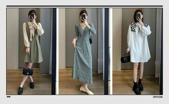 """秋季专属的长袖连衣裙,专治""""换季没衣服穿""""的你"""