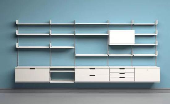 Dieter Ram的经典设计Vitsoe 606,万能模块化收纳柜