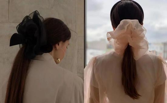 仙女气质的发饰  轻松get明星同款