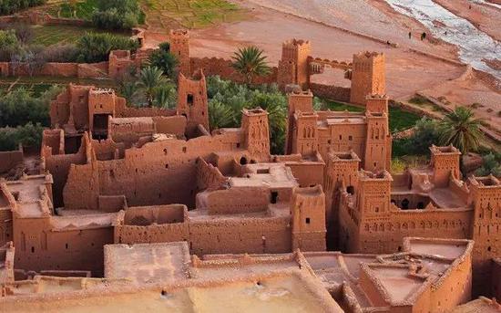 哈杜筑垒村(Aït-Ben-Haddou),摩洛哥