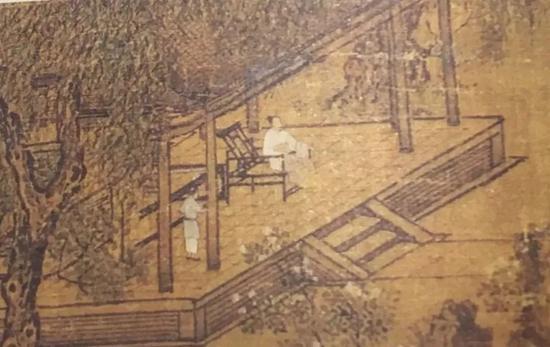 刘松年《四景山水图 夏景》里就有同款躺椅