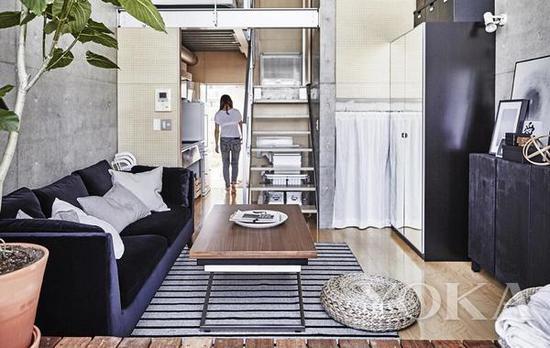 梯子后面也可以是储物空间 图片来自宜家家居