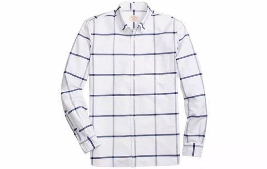 ●老牌衬衫牌子Brooks Brothers的衬衫是极简的大格纹。