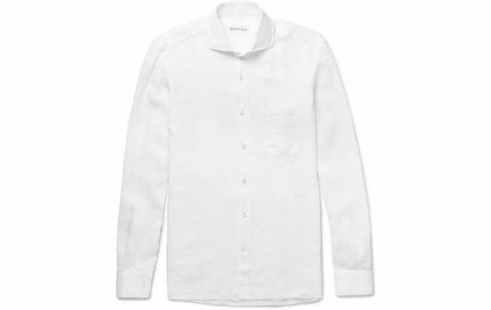 ●Rubinacci棉麻材质衬衫透气清凉,高温必备。