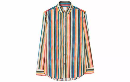 ●Paul Smith这季的彩色条纹看起来很成熟(对不齐也不要紧),不会太 Rainbow fashion。