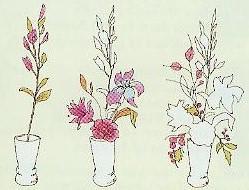 纵向插花技巧 图片来源自blog.mayflower.in