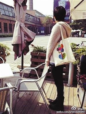 王菲背环保袋出街