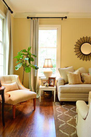 黄色家居设计 图片来源自Young House Love - DIY & Decor