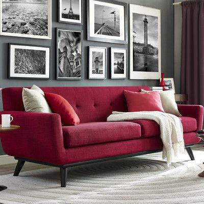 红色沙发搭配 图片来源自Wayfair.com