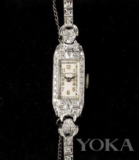 被拍卖的钻石腕表,图片来自Pinterest。