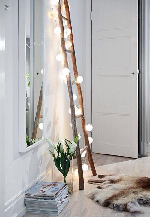 木质梯子 图片来源自apartmenttherapy.com