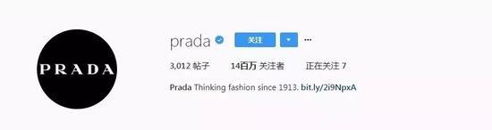7。Prada(@prada) ——1400萬