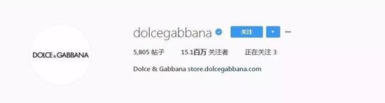 6。Dolce and Gabbana(@dolcegabbana) ——1510萬