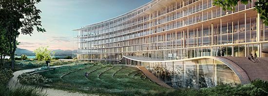 整座大楼将容纳2600个工位