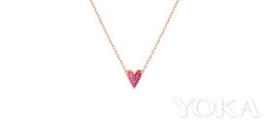 Celestine 丘比特爱心项链,¥ 780,图片来自OOAK官方网店。