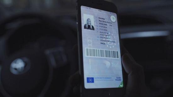 芬兰在测试的数字驾照