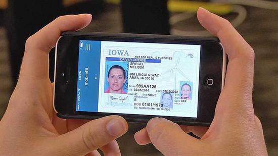 爱荷华州在测试的数字驾照 app