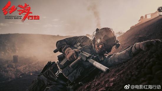 《红海行动》剧照 图片来源自微博@电影红海行动
