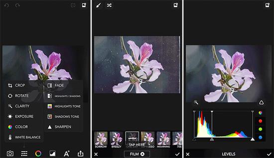 或者使用滤镜、色度和曲线功能调整图片色彩↑