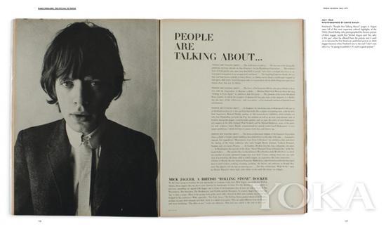 登上《Vogue》杂志的米克·贾格尔,图片来自Diana Vreeland Legacy。
