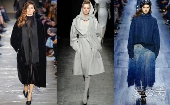 冬日同色系穿搭 最高级的还是黑灰蓝
