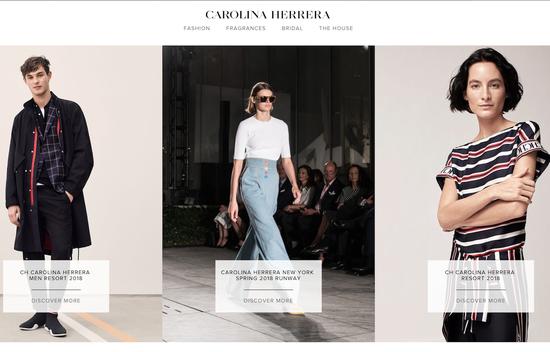 Carolina Herrera品牌网站