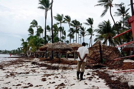 飓风Harvey过后的一家度假村