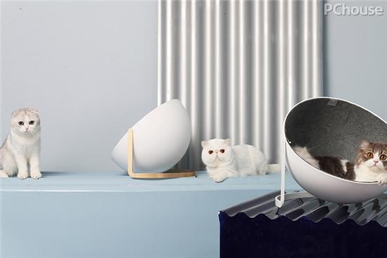 白白艺术半圆猫窝