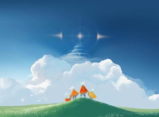 《Sky 光遇》需要和陌生人协作完成解谜。来自官网
