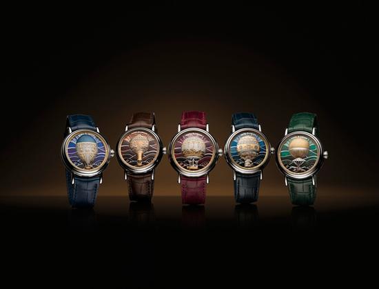 江诗丹顿Métiers d'Art艺术大师系列Les Aérostiers热气球腕表,图片来源江诗丹顿。