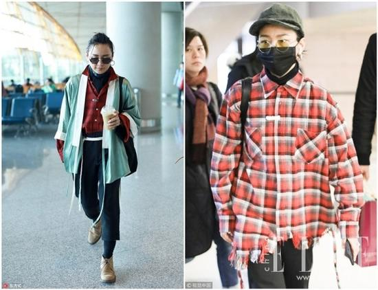 宋茜景甜穿越多越时髦 多亏衬衫+高领毛衣叠穿法