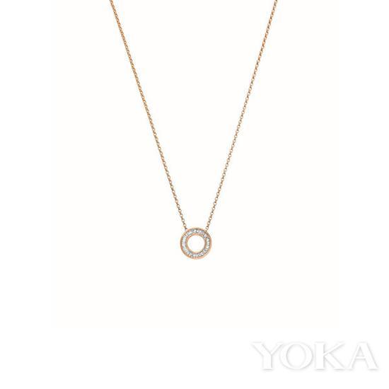 英皇珠宝 Sunray系列玫瑰金钻石吊坠,约¥ 15,509,图片来自英皇珠宝。