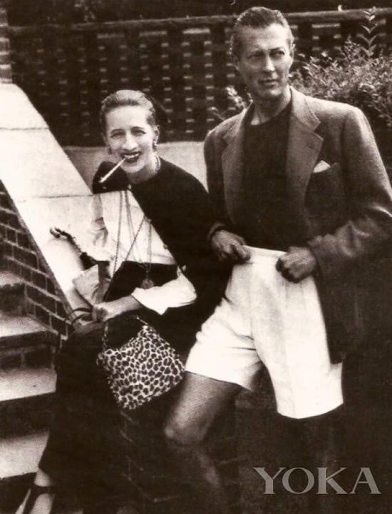 戴安娜·弗里兰和丈夫,图片来自Diana Vreeland Legacy。