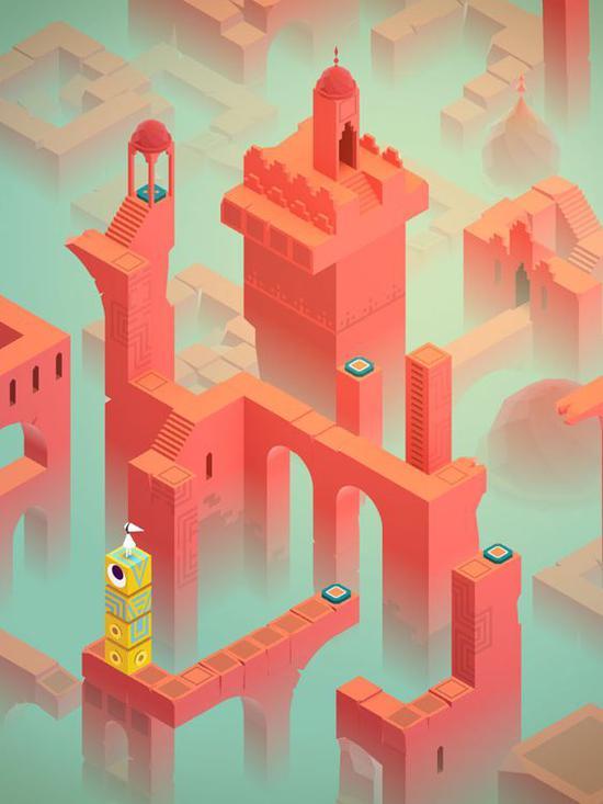 《纪念碑谷》游戏 图片来源自Yatzer