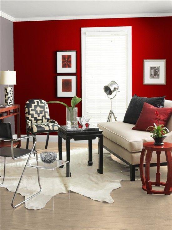 红色家居设计 图片来源自bhg.com