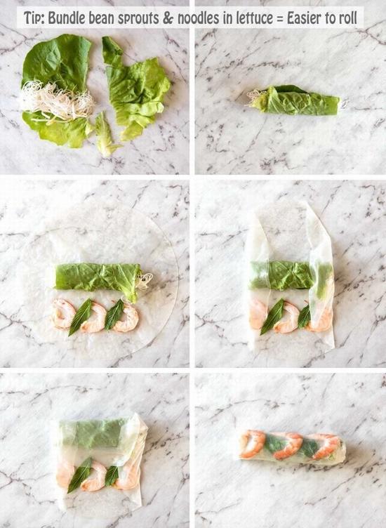 鲜虾蔬菜卷 图片来源自。recipetineats