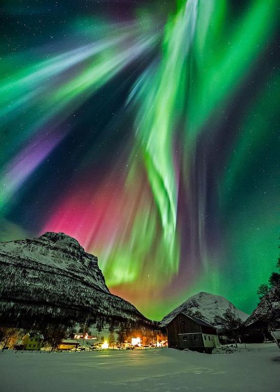 格陵兰岛看极光 图片来源自flickr.com