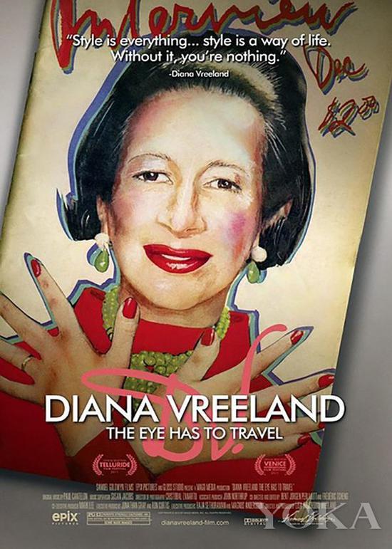纪录片《戴安娜·弗里兰:眼睛要旅行》海报,图片来自Pinterest。