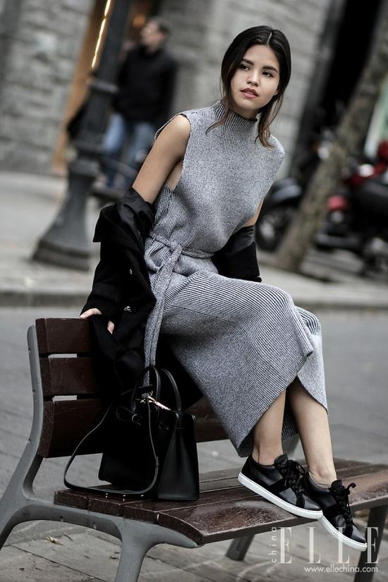 针织裙才是冬天最省力内搭 软妹力Max还不挨冻