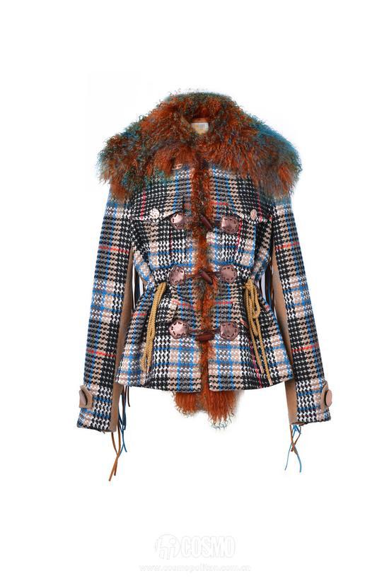 杨幂唐嫣的格纹大衣都好美 怎么我穿就老了十岁