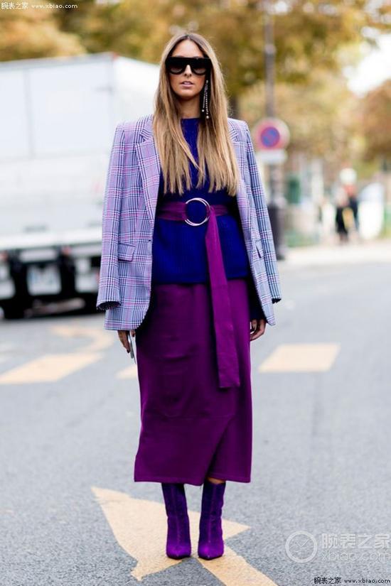 """要想生活过得去 身上都得带点""""紫"""""""
