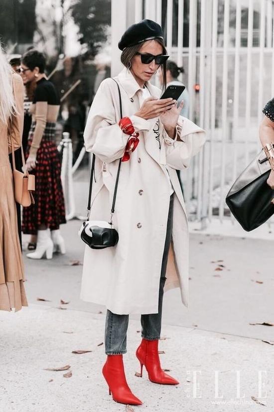 大衣配踝靴,2018年初这样穿最有气场