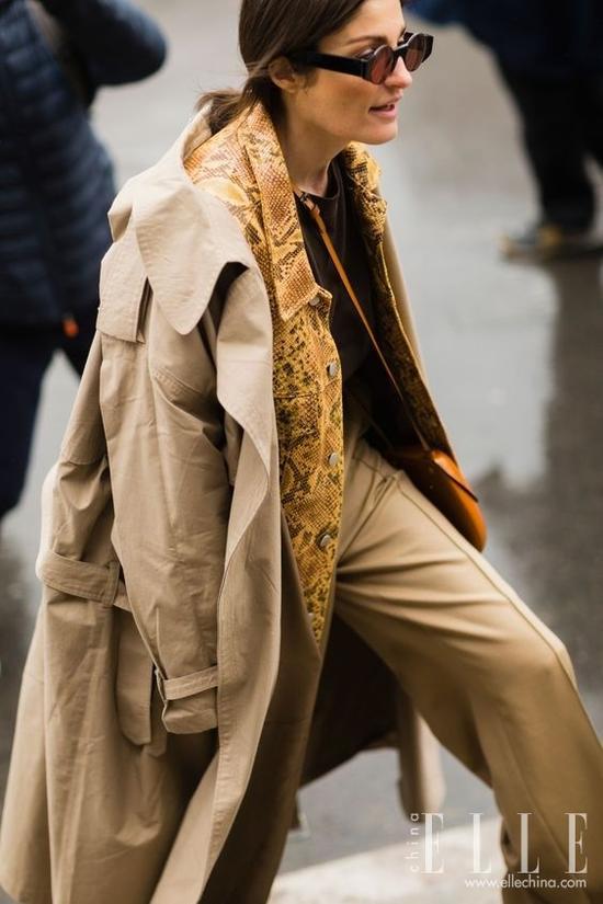 风衣+风衣,2018开春最时髦穿法来了
