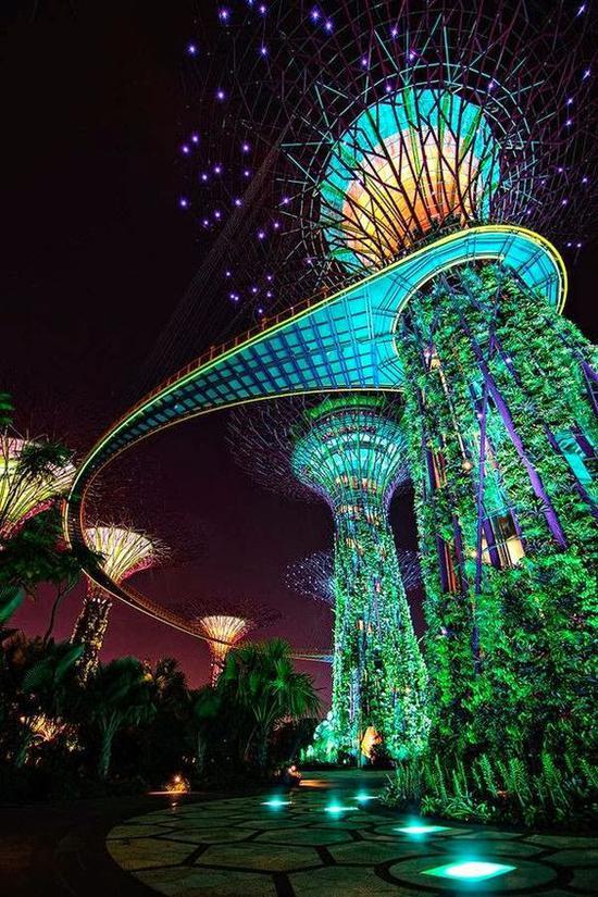 新加坡夜景 图片来源自incredible-pictures.com
