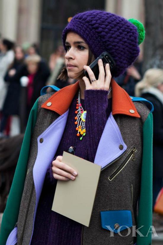 潮人Miroslava Duma,图片来自Hola Look and Fashion。
