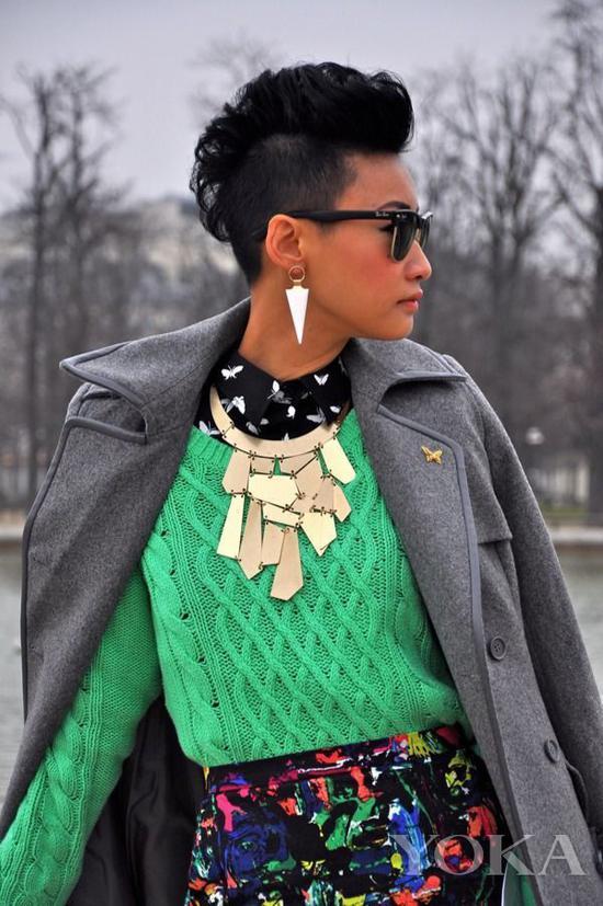 潮人Esther Quek,图片来自Pinterest。