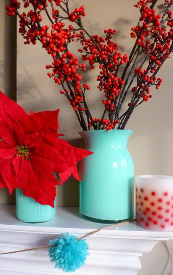 冬季红色花卉选择 图片来源自willowhouselori.com