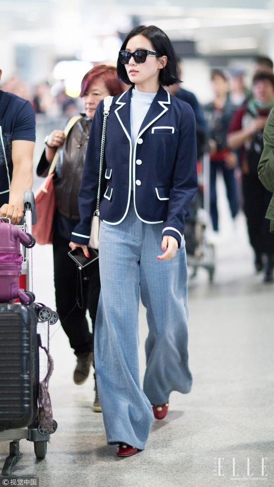 刘诗诗一年四季都在穿的阔腿裤 魅力到底在哪